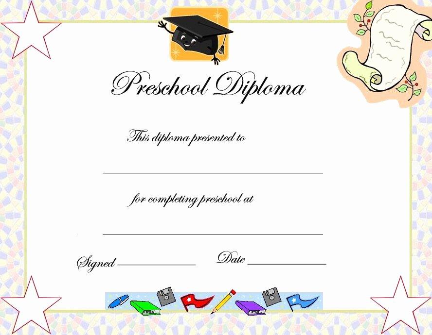 Kindergarten Graduation Program Templates Beautiful Preschool Graduation Certificate Template
