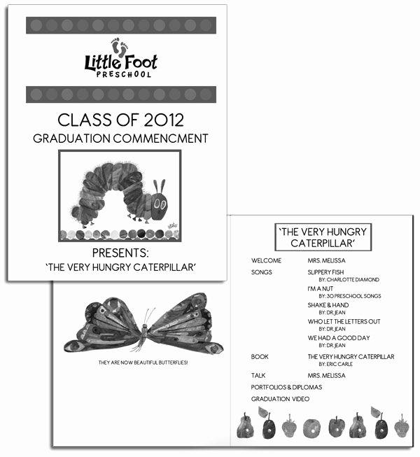 Kindergarten Graduation Program Templates Elegant Preschool Graduation Program Sample Google Search