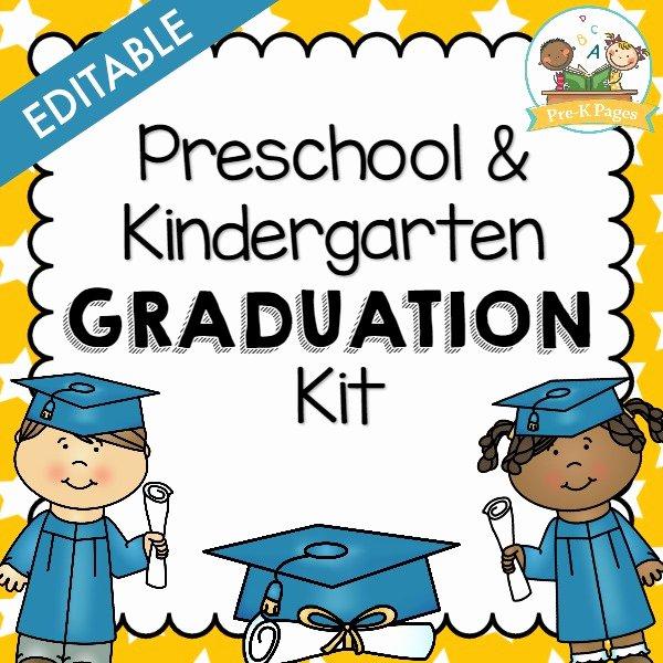 Kindergarten Graduation Program Templates Lovely Preschool Graduation Kit Pre K Pages