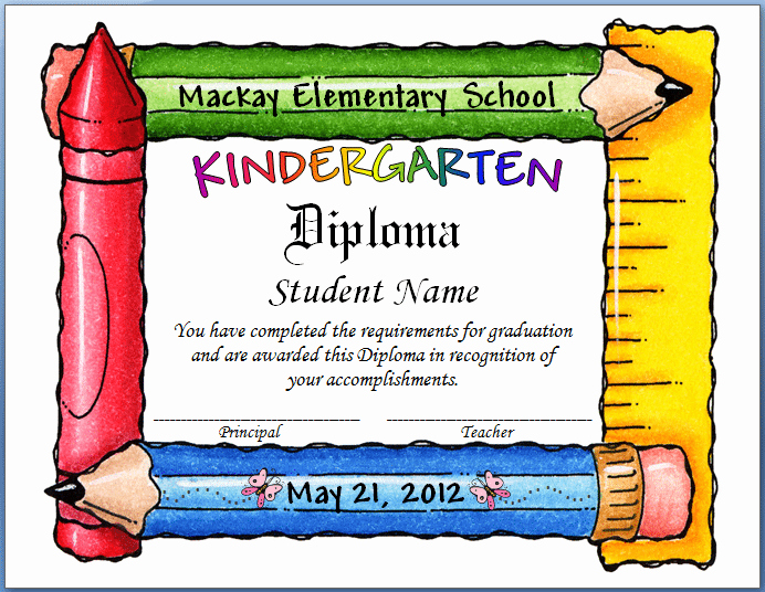 Kindergarten Graduation Program Templates Luxury Free Template for Graduation Invitation Kindergarten