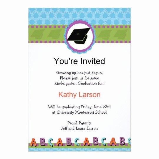Kindergarten Graduation Program Templates Luxury Kindergarten Graduation Invitation