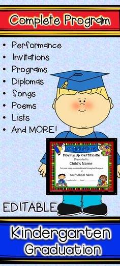 Kindergarten Graduation Program Templates Luxury Kindergarten Graduation Program