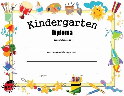 Kindergarten Graduation Program Templates New Free Printable Kindergarten Diploma