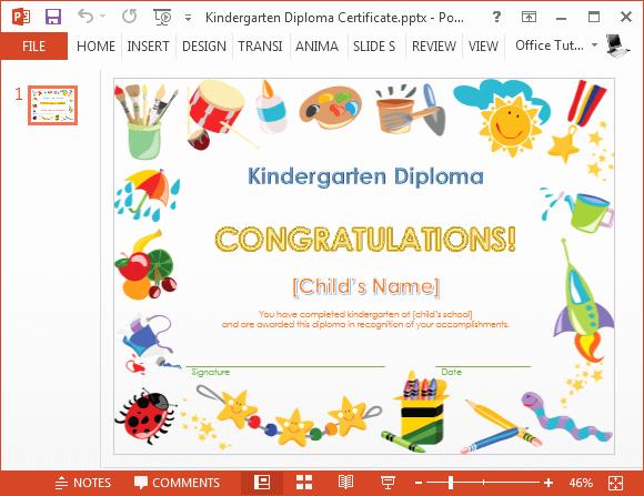 Kindergarten Graduation Program Templates Unique How to Make A Printable Kindergarten Diploma Certificate