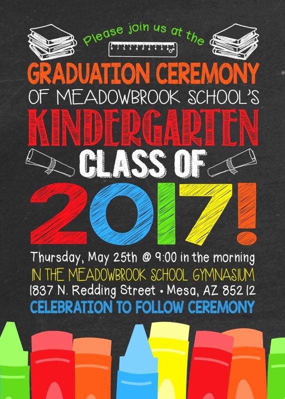 Kindergarten Graduation Program Templates Unique Kindergarten Graduation Invitation Kindergarten