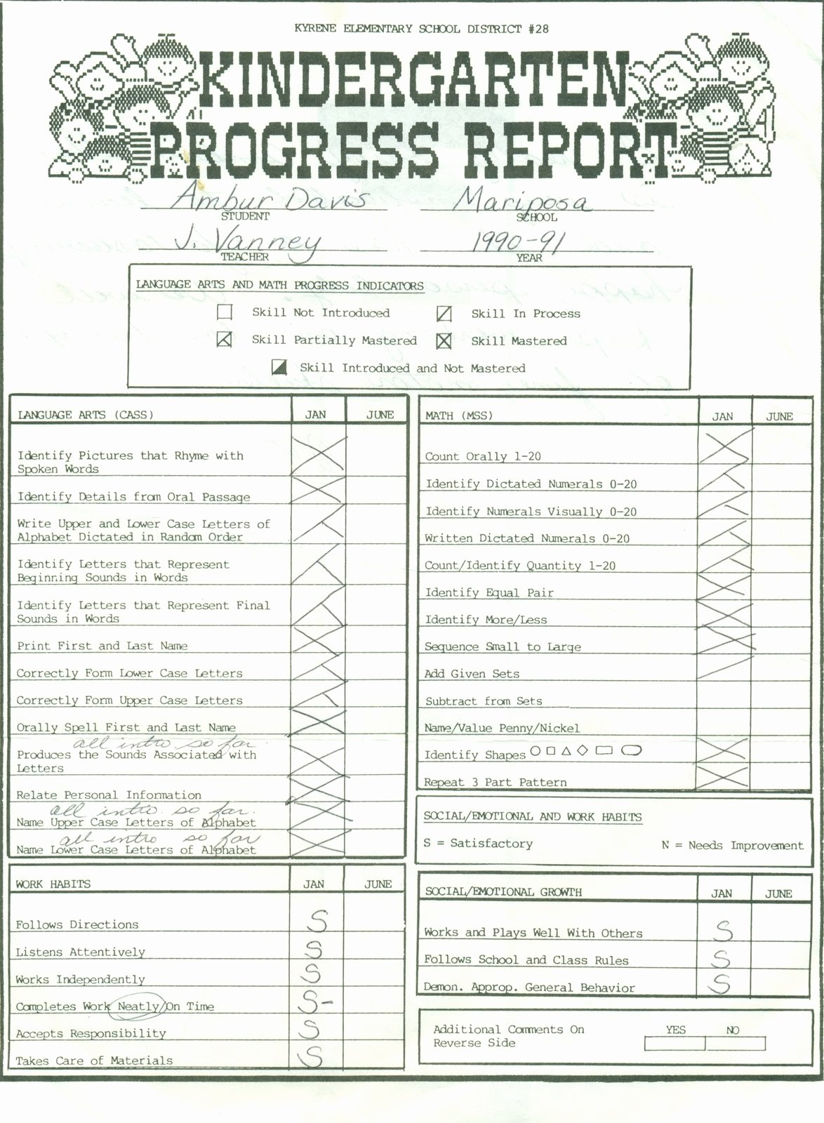Kindergarten Progress Report Template Elegant Sample Progress Report for Students Ments Line