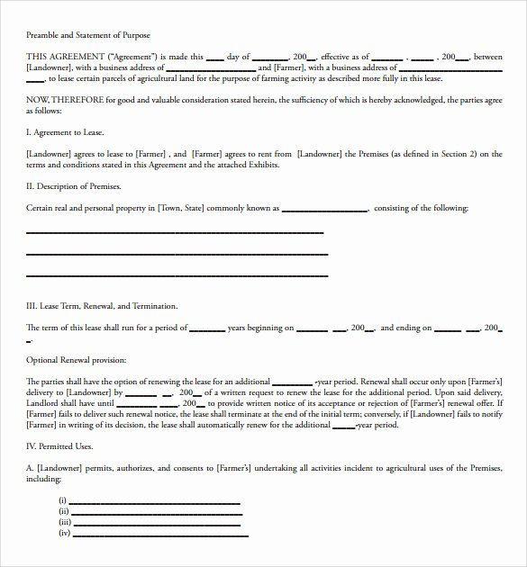 Land Lease Agreement Template Best Of Sample Land Lease Agreement Template 10 Free Documents