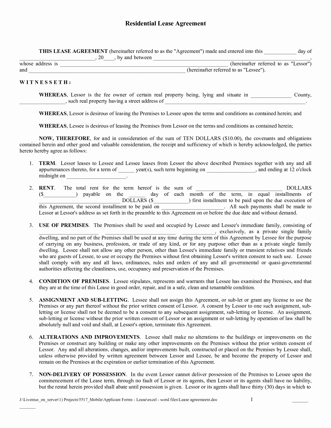 Land Lease Agreement Template Free Awesome Free Copy Rental Lease Agreement
