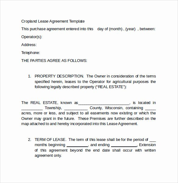 Land Lease Agreement Template Free Elegant Sample Land Lease Agreement 16 Free Documents In Pdf Word