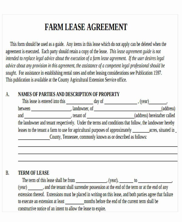 Land Lease Agreement Template Free Lovely 21 Printable Lease Agreement Templates Word Pdf Pages
