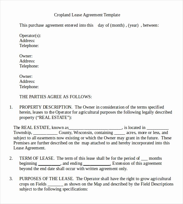 Land Lease Agreement Template Free Lovely Rental Agreement Template – 21 Free Word Pdf Documents