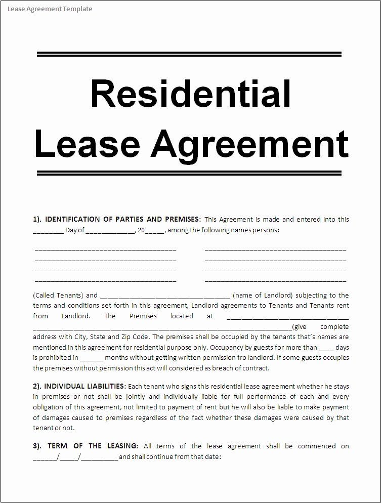 Land Lease Agreement Template Free Luxury Lease Agreement Template