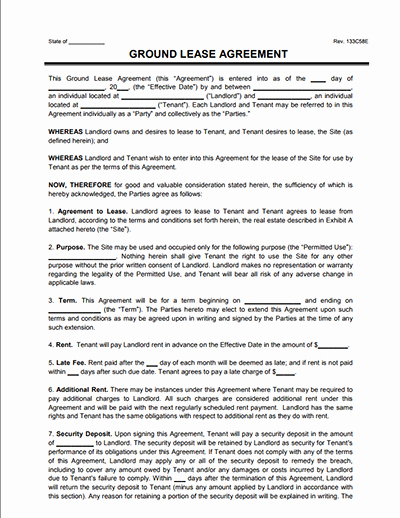 Land Lease Agreement Template Lovely Land Lease Agreement and Farm Land Lease Agreement