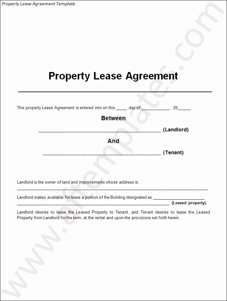 Land Lease Agreement Template Luxury 3 Best Lease Agreement Templates