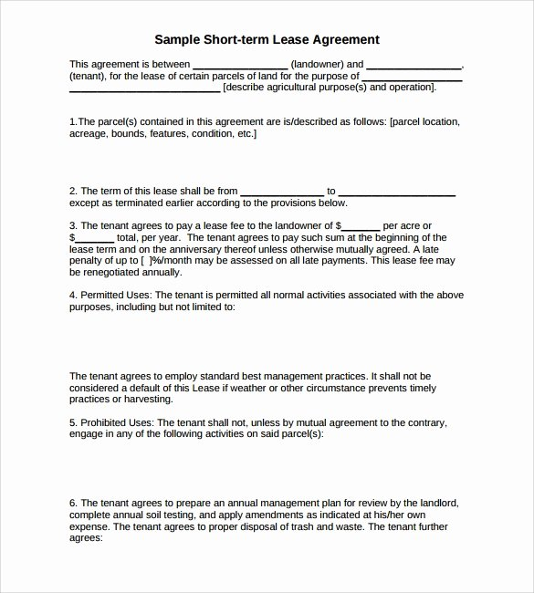 Land Lease Agreement Template Unique Sample Land Lease Agreement 16 Free Documents In Pdf Word