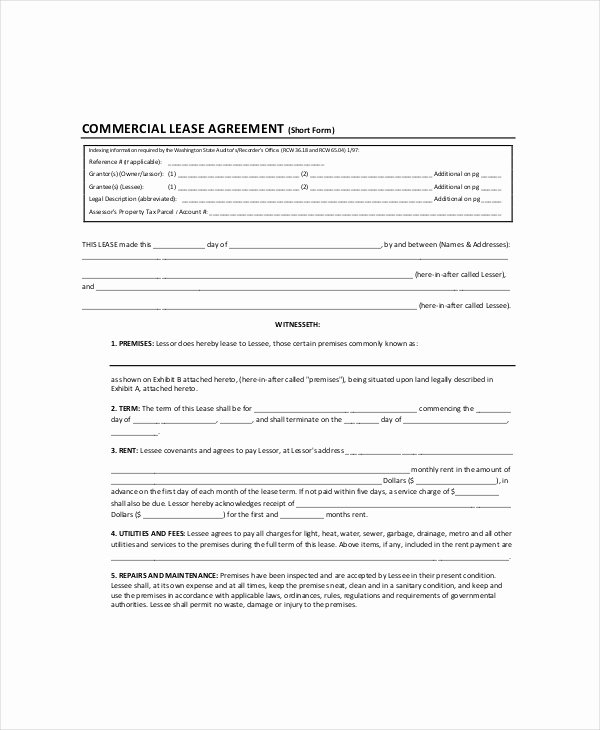 Land Lease Agreement Templates Fresh Land Lease Template 7 Free Word Pdf Documents Download