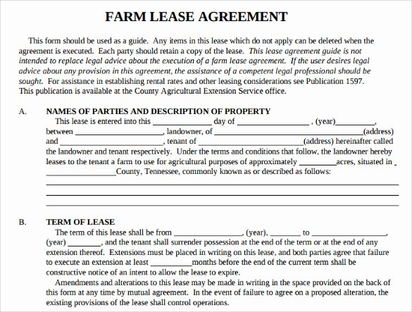 Land Lease Agreement Templates Lovely Sample Basic Lease Agreement 9 Documents In Pdf