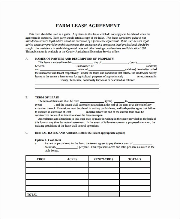Land Lease Agreement Templates New 9 Land Lease Agreement Templates Free Sample Example