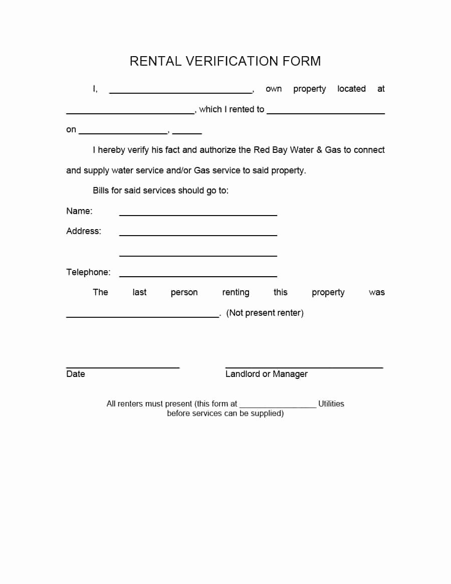Landlord Verification form Template Awesome 29 Rental Verification forms for Landlord or Tenant