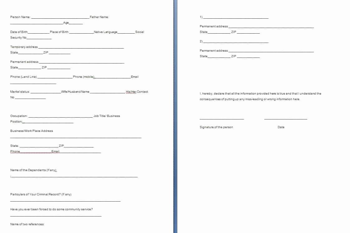 Landlord Verification form Template Unique Verification forms Template Free formats Excel Word