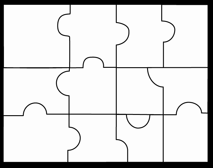 Large Puzzle Piece Template Awesome Puzzle Piece Templates Clipart Best