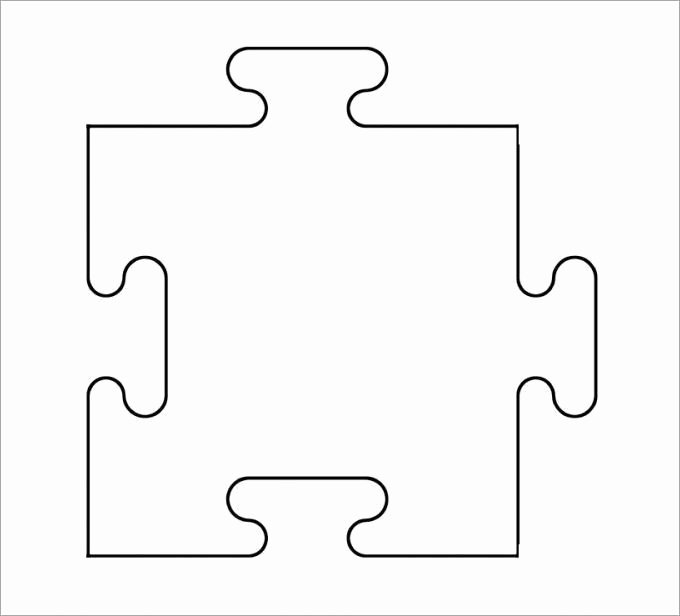 Large Puzzle Piece Template Best Of 1000 Ideas About Puzzle Piece Template On Pinterest