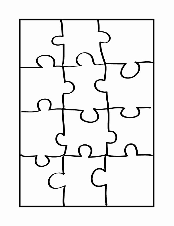 Large Puzzle Piece Template Best Of Puzzle Piece Template Cliparts