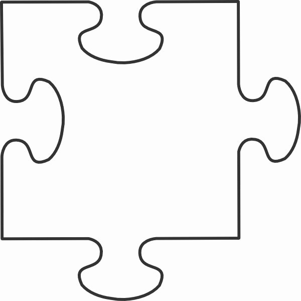 Large Puzzle Piece Template Elegant Puzzle Piece Template