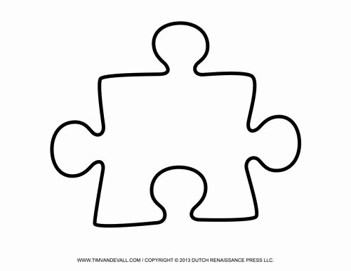 Large Puzzle Piece Template Fresh Printable Puzzle Piece Art Education