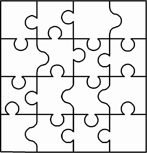 Large Puzzle Piece Template Luxury Autism Puzzle Piece Cut Out Clipart Best