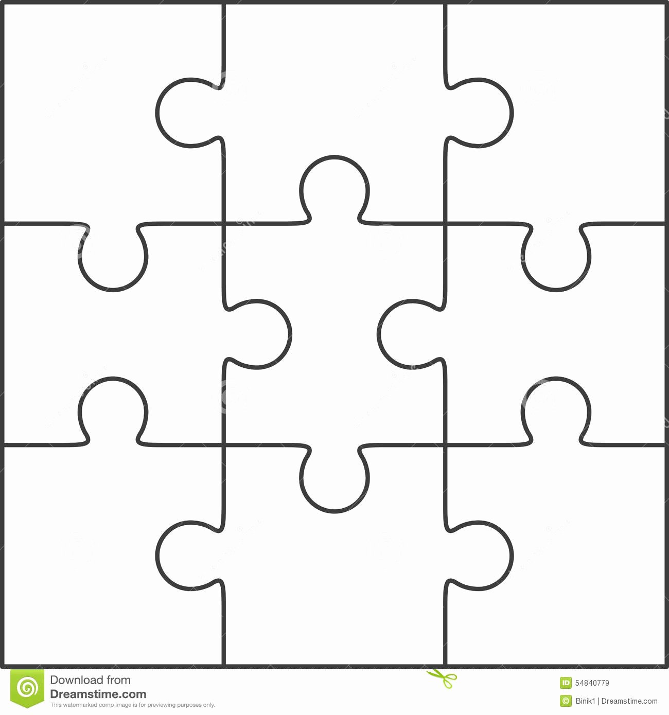 Large Puzzle Piece Template Luxury Printable Jigsaw Puzzle Template