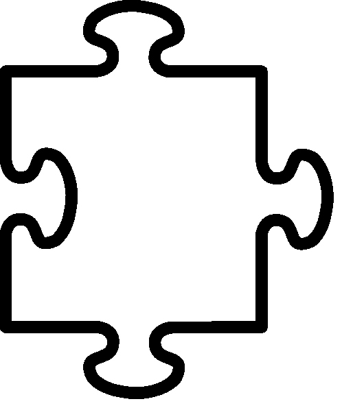 Large Puzzle Piece Template Unique Free Clipart Puzzle Pieces Clipart Best