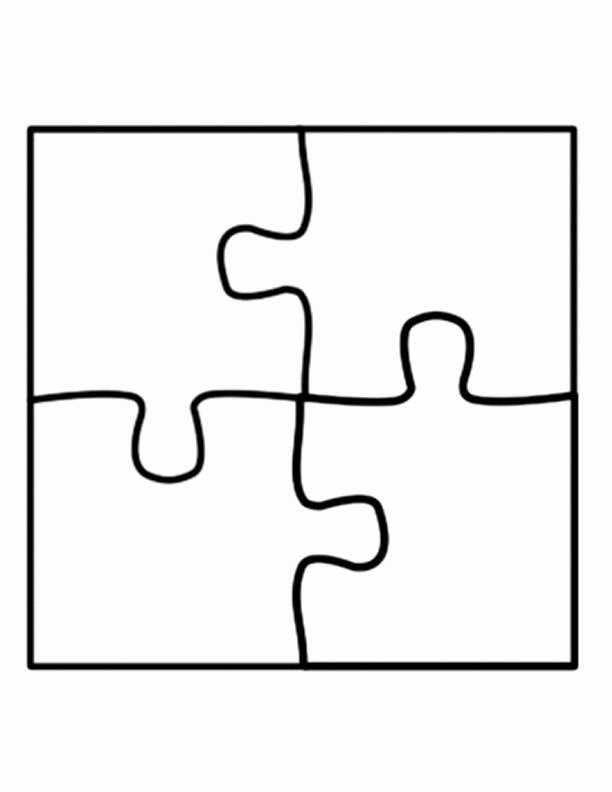 Large Puzzle Piece Template Unique Puzzle Piece Template On Pinterest
