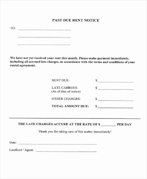 Late Rent Notice Template Awesome 37 Notice forms In Pdf