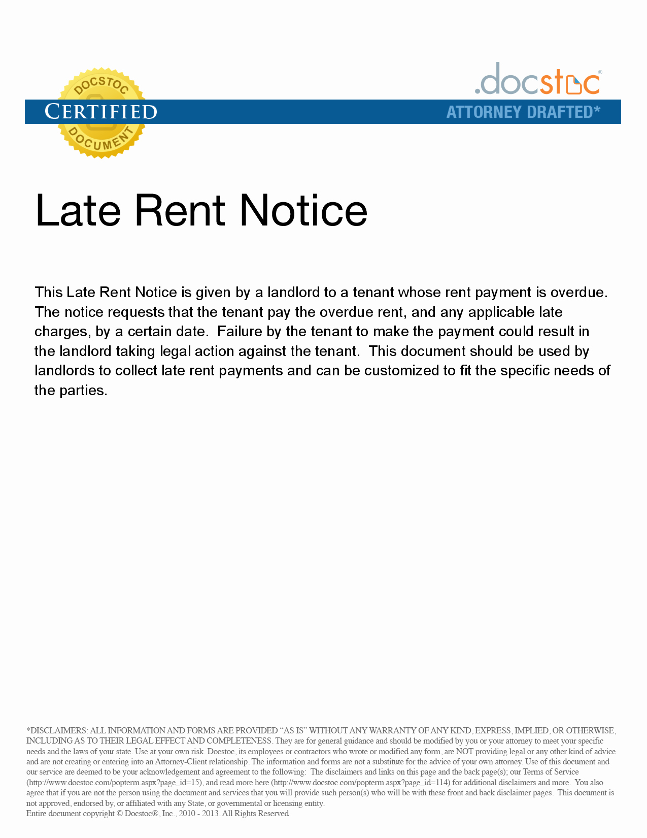 Late Rent Notice Template Beautiful Late Rent Notice Free Printable Documents