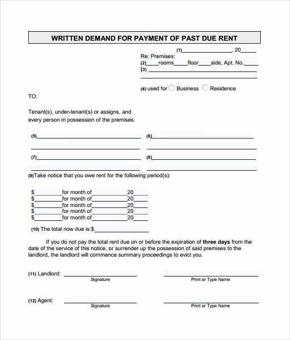 Late Rent Notice Template Inspirational 9 Late Rental Notice Templates Pdf Google Docs Ms