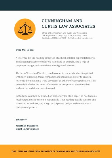 Law Firm Letterhead Templates Awesome Customize 30 Law Firm Letterhead Templates Online Canva