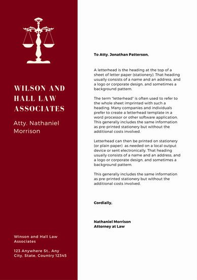 Law Firm Letterhead Templates Awesome Customize 960 Letterhead Templates Online Canva