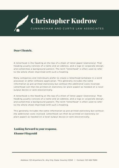 Law Firm Letterhead Templates Beautiful Customize 30 Law Firm Letterhead Templates Online Canva