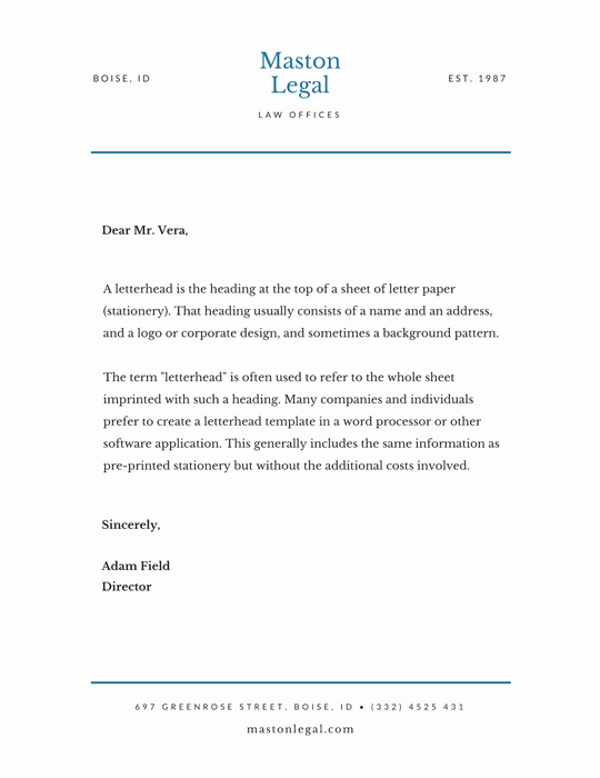 Law Firm Letterhead Templates Beautiful Design and Print Letterheads On Canva