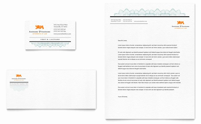 Law Firm Letterhead Templates Best Of attorney Business Card & Letterhead Template Design