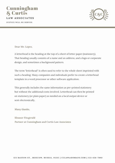 Law Firm Letterhead Templates Best Of Customize 30 Law Firm Letterhead Templates Online Canva