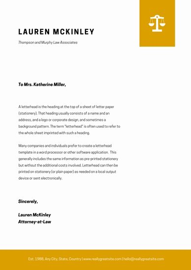 Law Firm Letterhead Templates Elegant Customize 30 Law Firm Letterhead Templates Online Canva