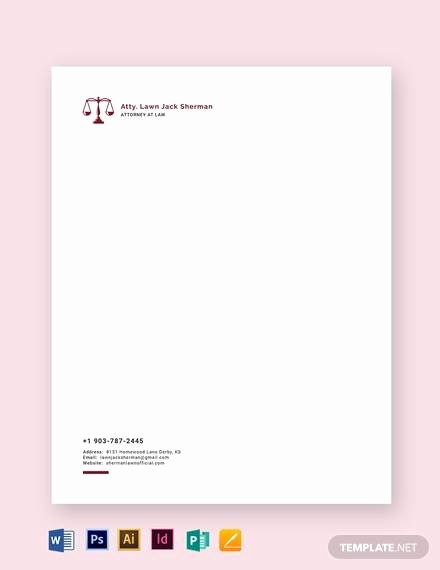 Law Firm Letterhead Templates Fresh Letterhead Example 20 Samples In Word Pdf