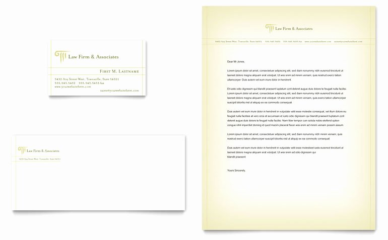 Law Firm Letterhead Templates Lovely attorney & Legal Services Business Card & Letterhead