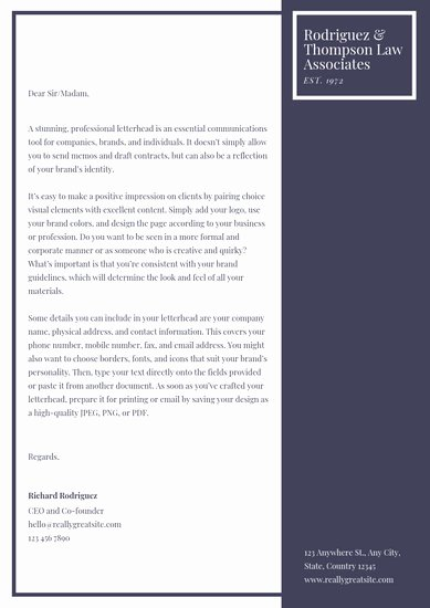 Law Firm Letterhead Templates New Customize 30 Law Firm Letterhead Templates Online Canva