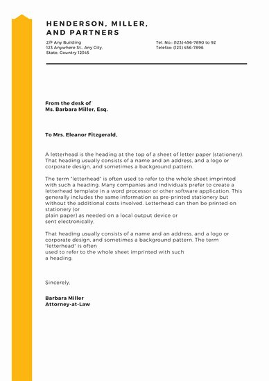 Law Firm Letterhead Templates New Customize 37 Law Firm Letterhead Templates Online Canva