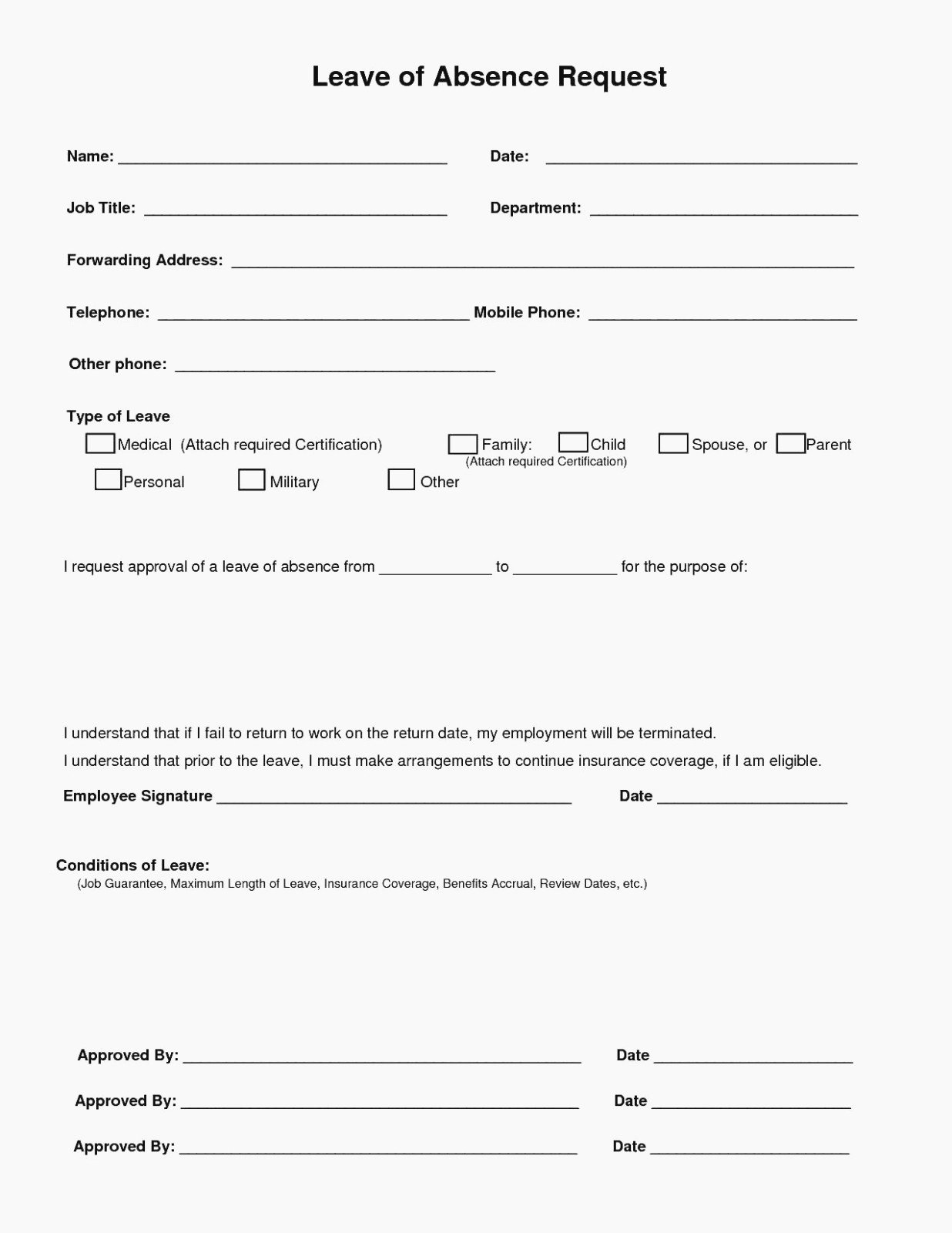 Leave Of Absence forms Template Beautiful 14 Great Leave Absence