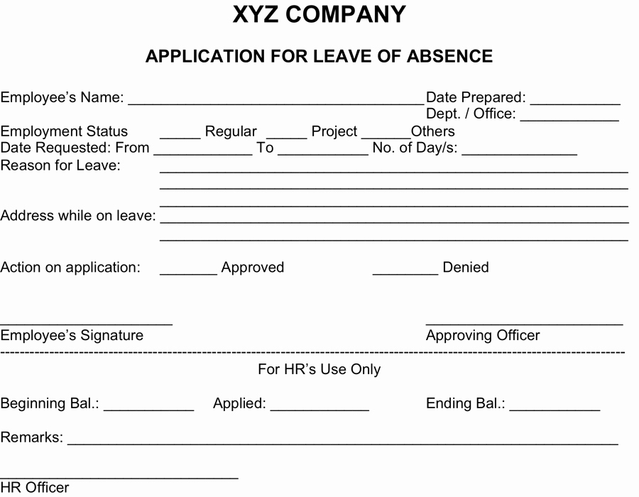 Leave Of Absence forms Template Inspirational Vacation Leave Sample Policy In Relation to Discipline