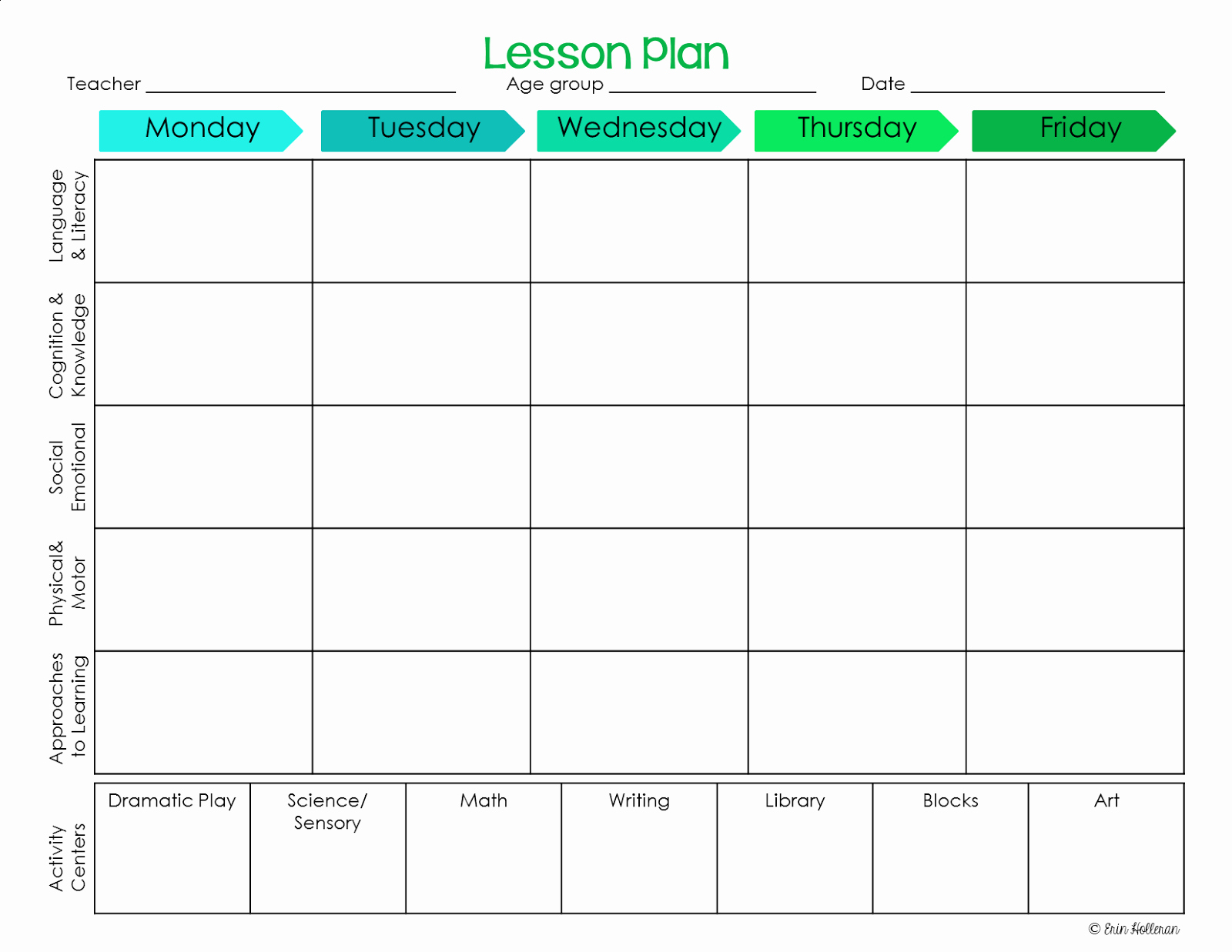 Lesson Plan Templates Kindergarten Unique Preschool Ponderings Make Your Lesson Plans Work for You